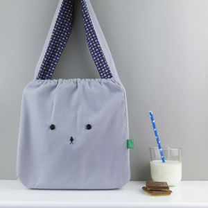 Bunny Rabbit Geometric Fabric Bag