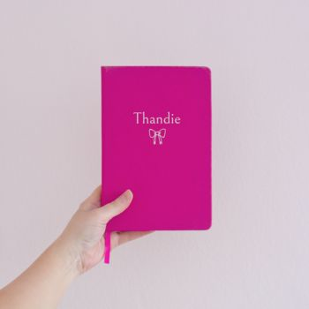 Personalised Bow Notebook