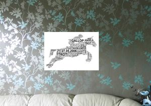 Personalised Horse And Rider Word Art Print - children's room
