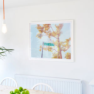 'Happy Days' American Street Sign Photographic Print