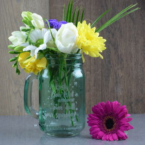 Dull Your Sparkle Personalised Flower Vase Jar - new in home