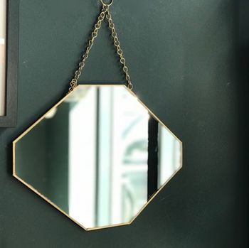 Gold Framed Octagonal Mirror