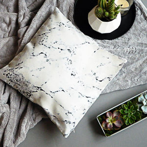 Marble Print Cushion Cover - cushions