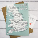 'Home Is Where The Heart Is' Frameable Greetings Card