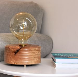 Bigbury Beech Wood Table Lamp With Edison Light Bulb - lighting