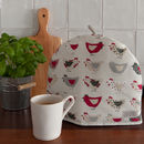 Personalised Embroidery Roost Red Tea Cosy