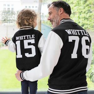 Personalised Parent And Child Varsity Jackets - best father's day gifts