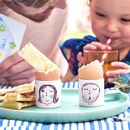 Personalised Family Faces Egg Cups