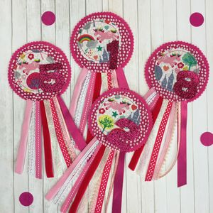 Unicorn Birthday Rosette - children's jewellery