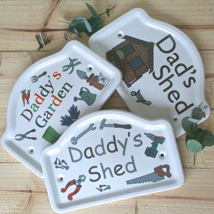 Personalised 'Dad's' Shed And Garden Plaques