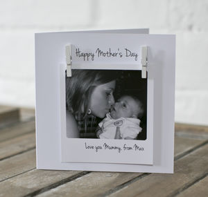 Personalised Mother's Day Photo Message Card - mother's day cards