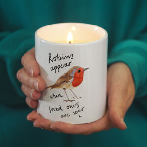 Robin Memorial Scented Soy Candle