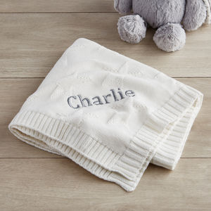 Personalised Jacquard Knit Blanket - gifts for babies