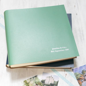 Extra Large Leather Photo Album - personalised gifts for families