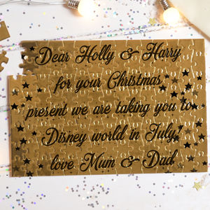 Christmas Children's Reveal Card Puzzle 'Gold' - traditional toys & games