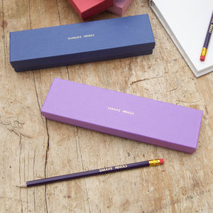 Personalised Pencil Set - writing
