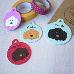 Labradoodle/ Cockapoo/ Bichon Frise Pet ID Tag - pet tags & charms