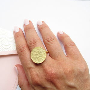Gold Disc Ring - rings