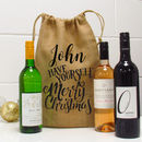 Personalised Have Yourself A Merry Christmas Wine Bag