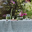 Fine Black Stripe Linen Tablecloth