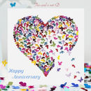 Butterfly Wedding Anniversary Card, Anniversary Card