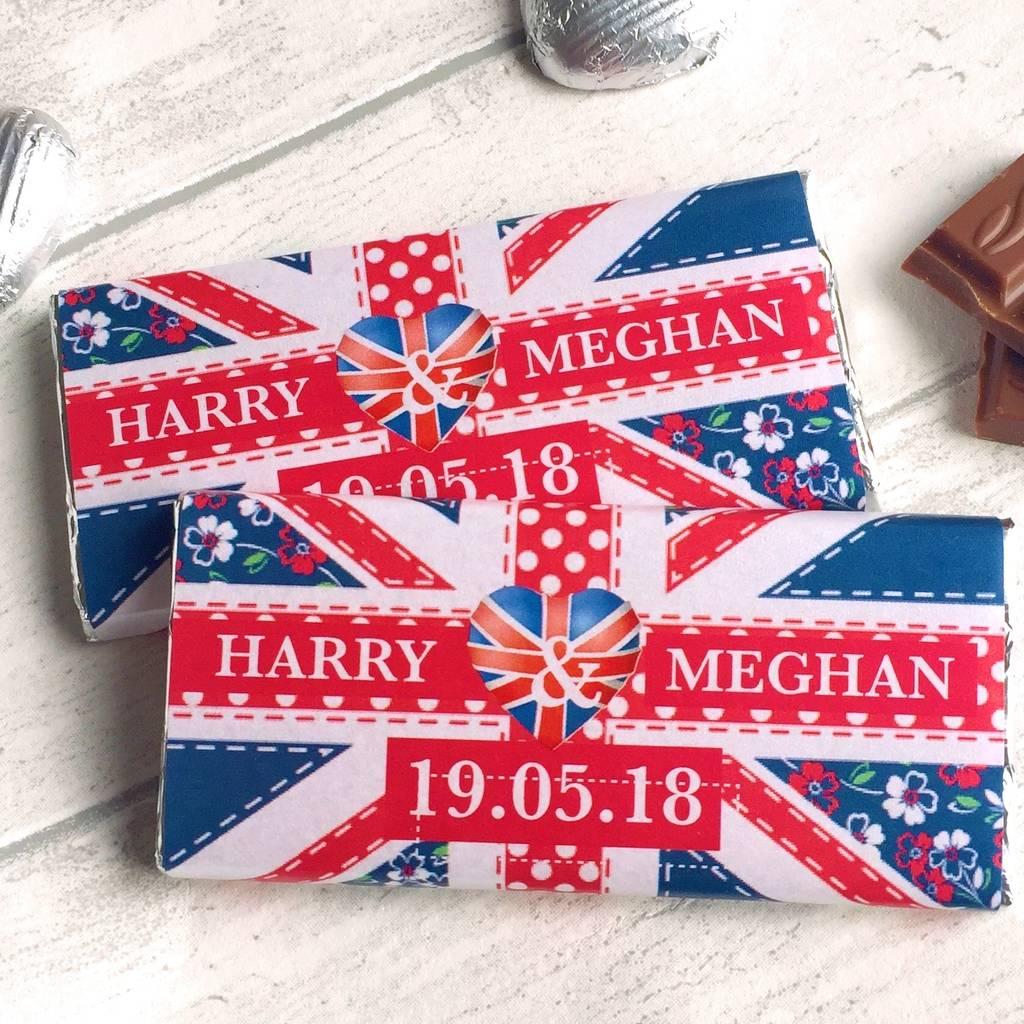 Royal Wedding Gifts: 25 X Royal Wedding Chocolate Bars By Tailored Chocolates