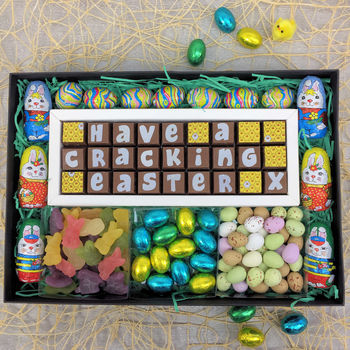 Large Personalised Chocolate Easter Gift Box
