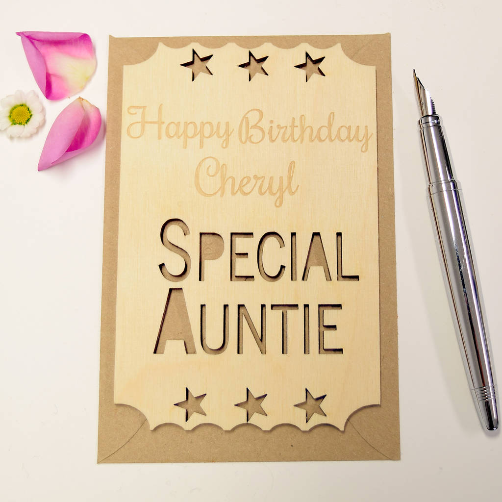Personalised special auntie birthday ticket keepsake by hickory personalised special auntie birthday ticket keepsake kristyandbryce Choice Image