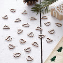 Wooden Table Shaped Confetti Christmas