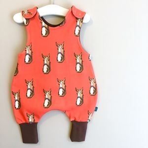 Organic Baby Dungarees In Horse Print Design - clothing