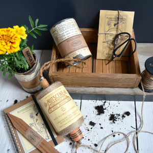 Lemon Candle And Lancashire Bobbin Gardening Gift Box - seeds & bulbs