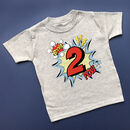 2nd Birthday T Shirt, Comic Style