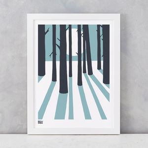 'In The Woods' Art Print In Coastal Blue