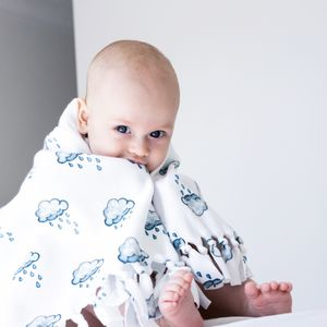 Sleepy Raincloud Fleece Snuggle Blanket - gifts for babies