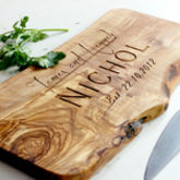Personalised Wooden Chopping/Cheese Board - anniversary gifts