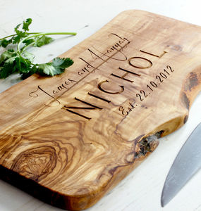 Personalised Wooden Chopping/Cheese Board - by year