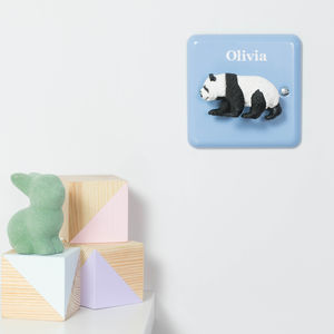 Pastel Personalised Animal Nursery Dimmer Switches