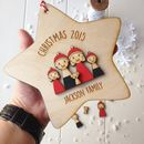 Personalised My Family Christmas Star Decoration