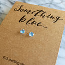 Something Blue Topaz And Sterling Silver Bride Earrings