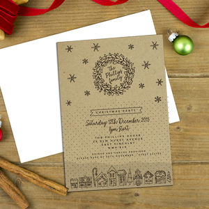 Personalised Christmas Kraft Invitations - cards & wrap