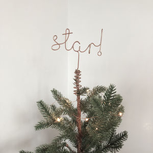 Star! Word Christmas Tree Topper - tree toppers