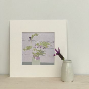 Hedgerow Sweet Pea Limited Edition Print