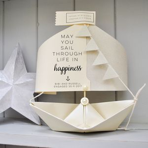 Wedding Paper Boat Card Gift Keepsake - wedding cards