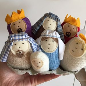 Nativity Egg People - christmas decorations