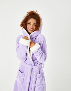 Lilac Fluffy Dressing Gown