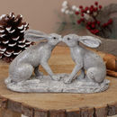 French Grey Kissing Hares