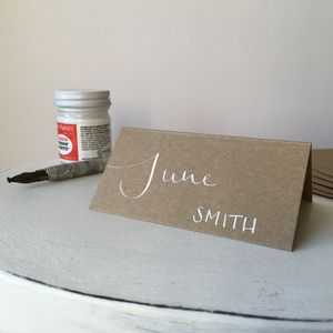 Kraft Brown Place Card - place cards
