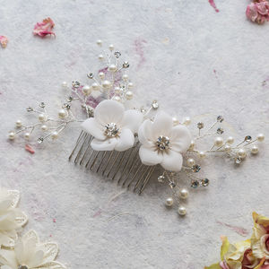 Vivian Crystal Hair Comb - bridal accessories