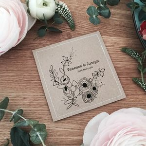 Just Married Wild Flower Seed Favours