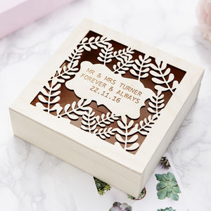 Personalised Laurel Keepsake Box - view all anniversary gifts